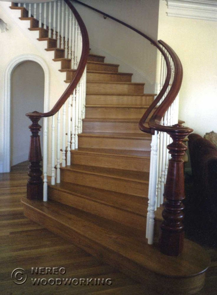 A beautiful restored Victorian staircase - source: http://www.nereowood.com/photo_gallery_1.htm