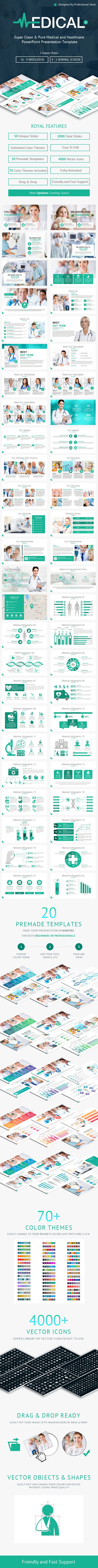 Poster design templates powerpoint - Medical And Healthcare Powerpoint Presentation Template