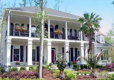 Delightful Stacked Porches - 32569WP | 2nd Floor Master Suite, Bonus Room, Butler Walk-in Pantry, Corner Lot, Den-Office-Library-Study, Multi Stairs to 2nd Floor, PDF, Photo Gallery, Plantation, Southern | Architectural Designs