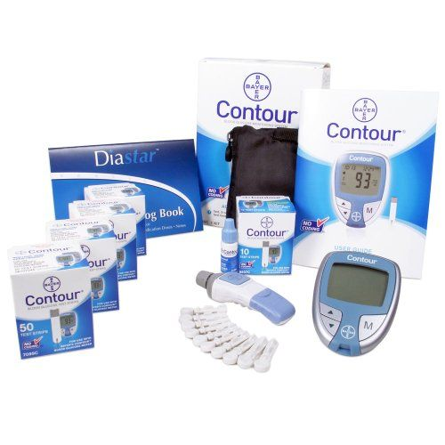 Bayer Contour Test Strips Value Bundle Includes 4 Packs of Contour 50count Test Strips1 Contour Meter and 1 30 Day Glucose Log Book Lancet Device and Generic Lancets -- Continue to the product at the image link.