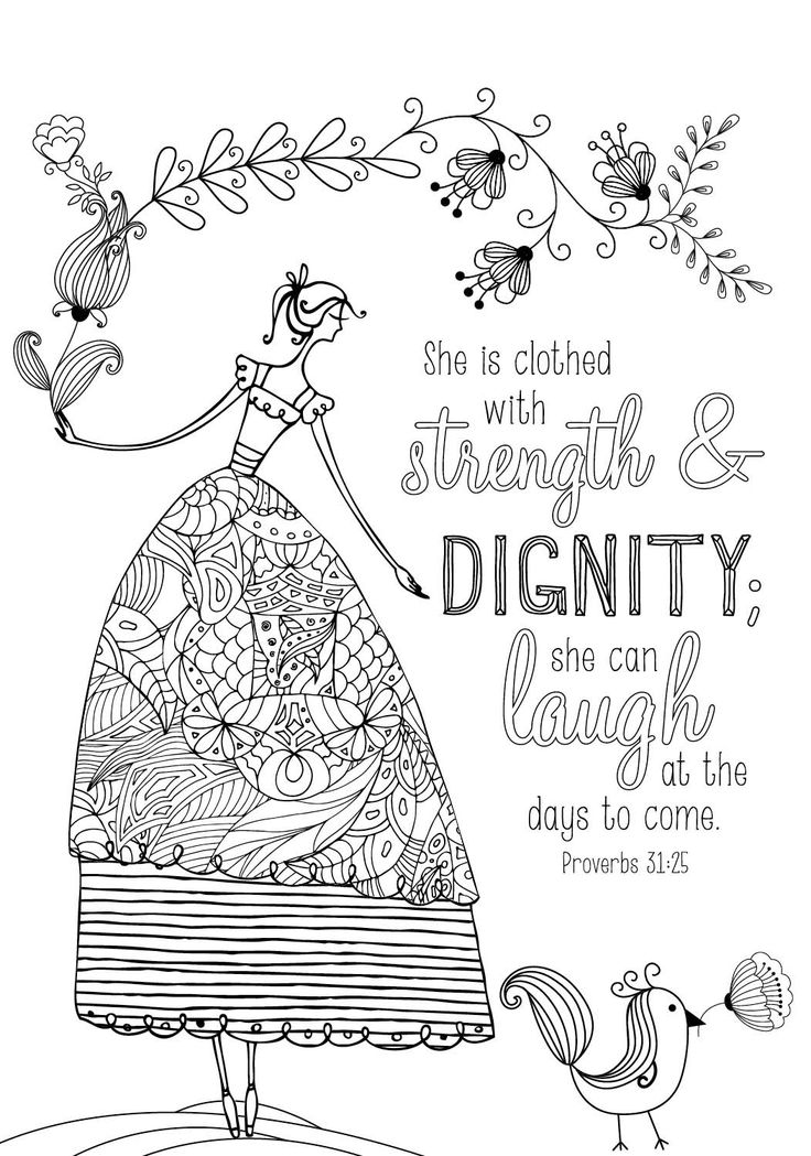 Coloring Page From Book For Mom