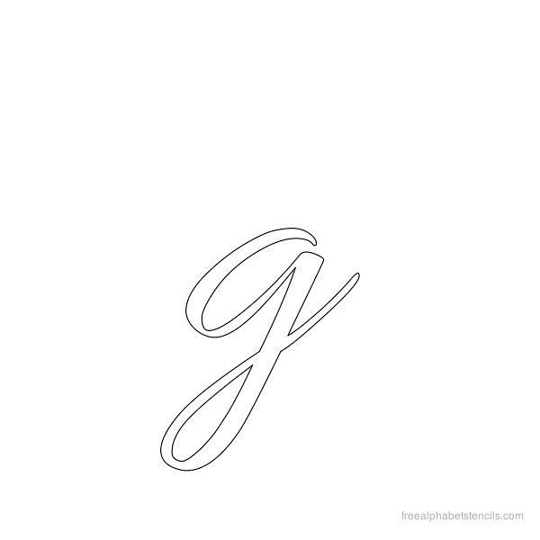 Inch Printable Cursive Letter Stencils Templates on