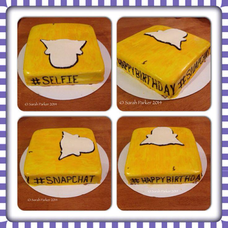 Snapchat Birthday Cake! #snapchat #selfie #birthday