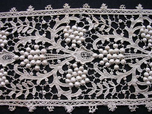 Antique Chemical Lace ~ Circa Late 19th Century.
