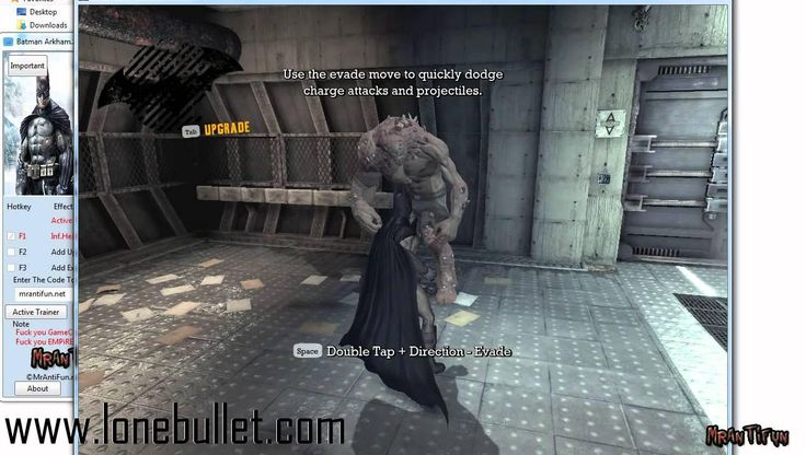 Download Batman             Arkham Asylum V1.1 Goty Steam Trainer for Batman Arkham Asylum at breakneck speeds with resume support. Direct download links. No waiting time. Visit http://www.lonebullet.com/trainers/download-batman-arkham-asylum-v11-goty-steam-trainer-free-690.htm and click the download now button.
