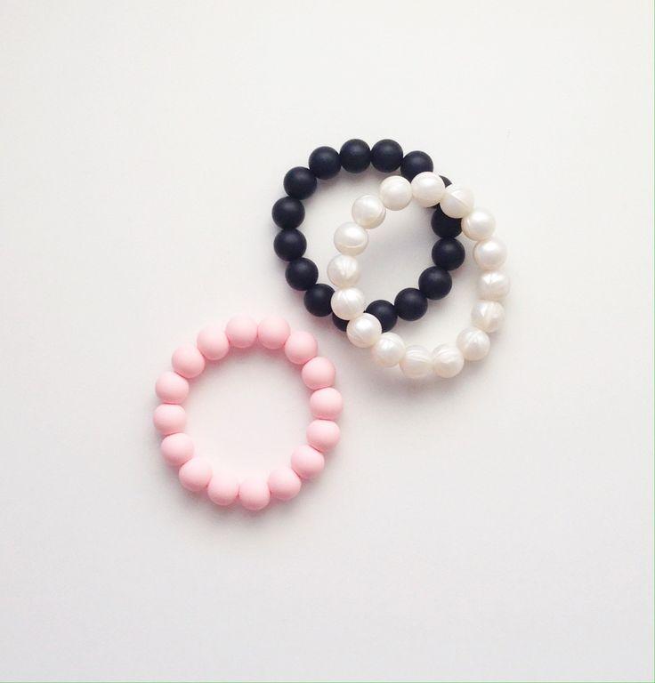 Full Beaded Silicone Teething Bracelet – Ruby Love Baby