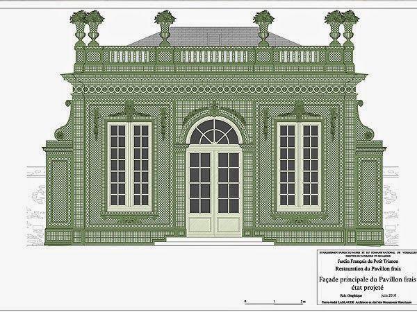 Versailles le pavillon frais jardin francais de le petit - Pavillon de jardin ...