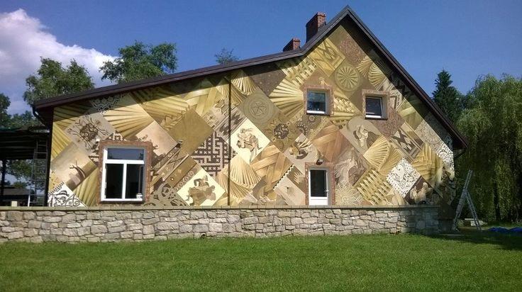 Murale kojarzą się z przestrzenią miejską, jednak w Gorajcu powstał...pierwszy wiejski mural! #mural #wieś #Gorajec #sztuka/ #streetart #art #country