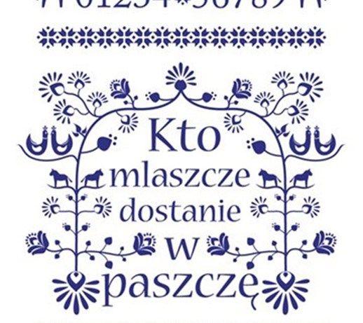 "Plakat a'la makatka ""Kto mlaszcze .. - plakat"