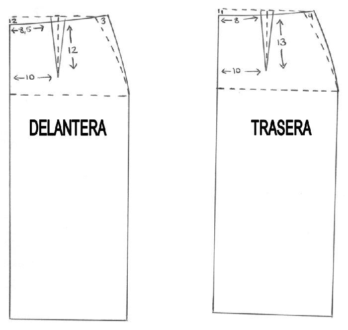 Falda recta con pinzas