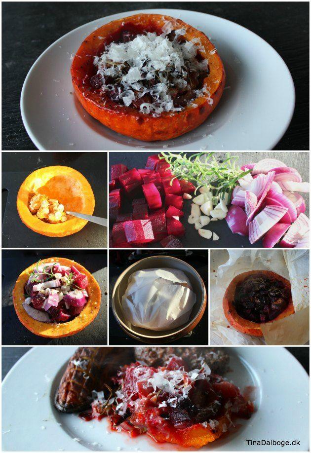 hokkaido bagt med grøntsager, parmesan, hvidløg og andre gode sager. :)