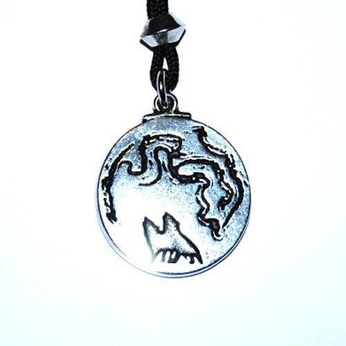 Wolf Moon Pendant – Celtic Pewter Jewellery