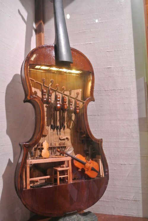 miniature violins.  This, again, takes some great imagination, not to mention painstaking  craftsmanship.