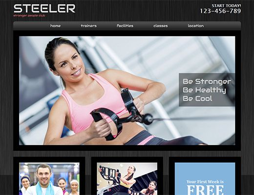 Template 011: Steeler Create free website. Great templates #webdesign #template #resources