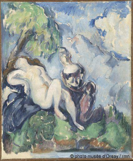 Paul Cézanne Bethsabée entre 1885 et 1890 huile sur toile H. 0.295 ; L. 0.245 musée Granet, Aix-en-Provence, France ©photo musée d'Orsay