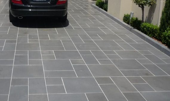 30 best images about bluestone honed tile on pinterest for Tile driveway
