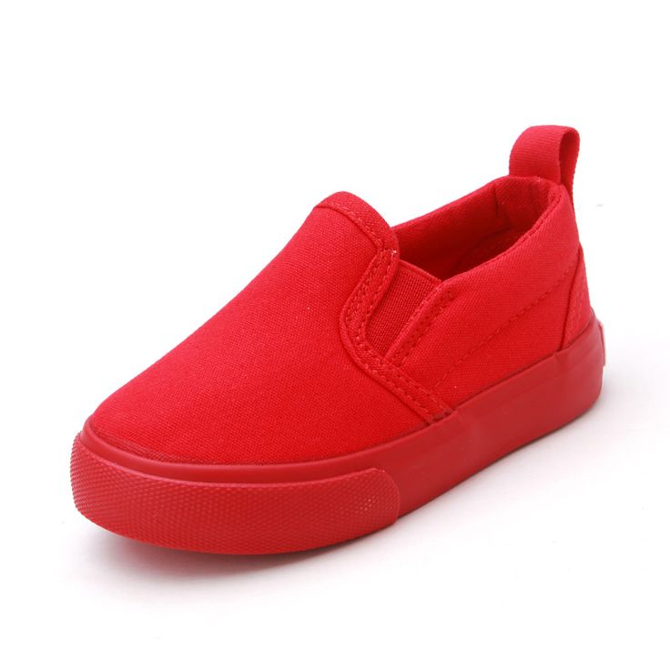 New Solid Color Children Canvas Shoes Unisex Boys Girls Casual Sneakers Slip On Kids Flat Shoes Sport White Black Red Blue #Affiliate