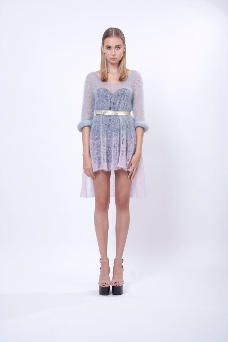 hand-knitted mohair and silk dress, design Lucie Kutálková, LEEDA store