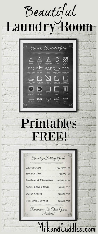 Diy: Laundry Room Printables