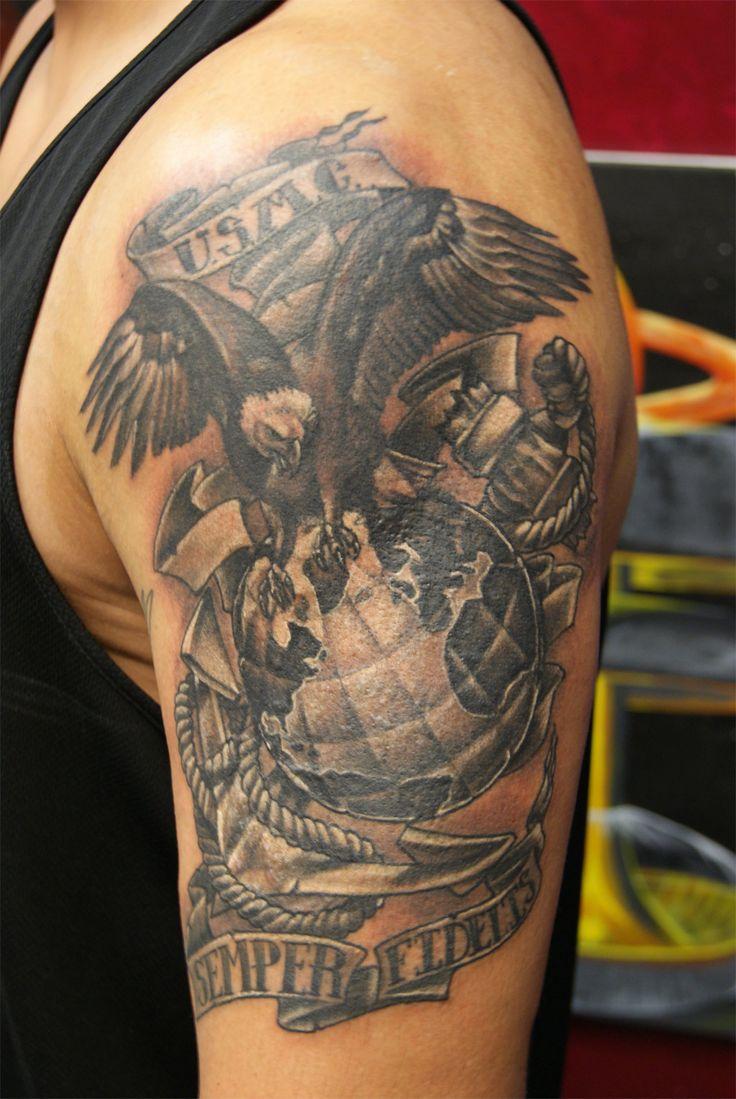 Fi fireman tattoo designs - Usmc Tattoos