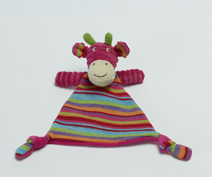Pink Knitted strip giraffe.. Kids just LOVE to snuggle with these! Fantastic #giftidea #pink #giraffe #childrens #nursery
