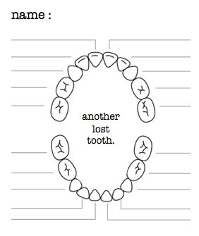 TOOTH fairy kit letter from the tooth fairy by looploft on Etsy