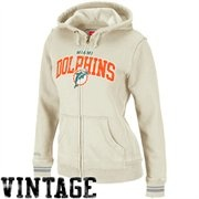 Mitchell & Ness Miami Dolphins Ladies Arch Rivals Hoodie - Cream @fanatics #fanacticswishlist