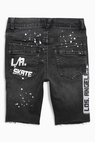 Buy Black Denim Skate Shorts (3-16yrs) from the Next UK online shop
