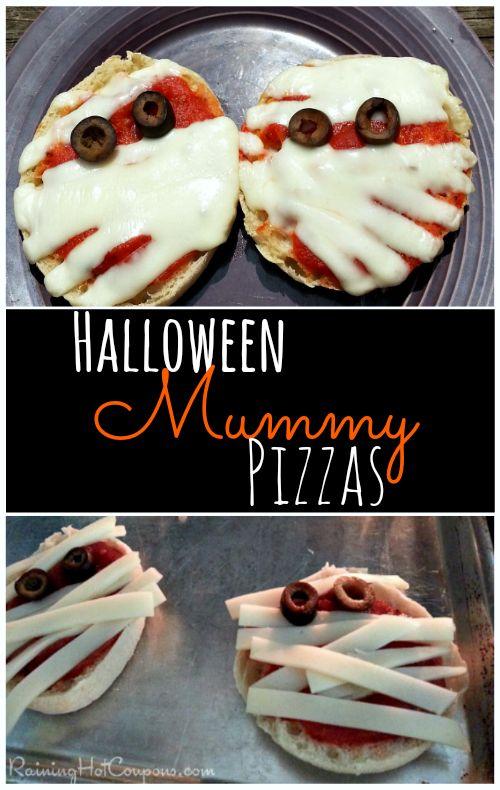 halloween mummy pizzas Yummy Mummy Pizzas Halloween Recipe