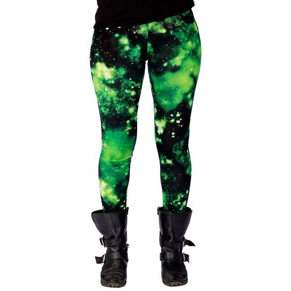 TOXIC GALAXY LEGGINGS (36 CAD) ❤ liked on Polyvore featuring pants, leggings, bottoms, jeans, galactic leggings, galaxy print pants, galaxy pants, nebula print leggings and space print leggings