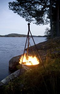 Hängande eldstad