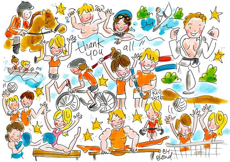 Thank you all !! Olympische Spelen Rio 2016 by Blond-Amsterdam