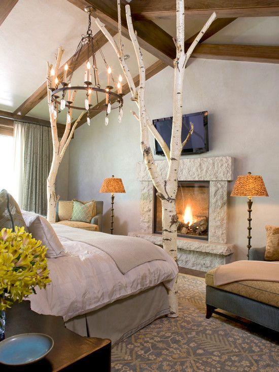 Brilliant Bedroom Ideas Nature Branches Mountain Decor And Design