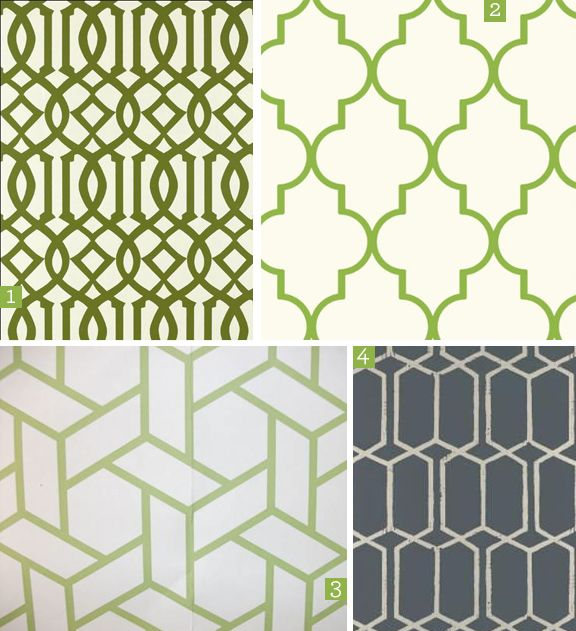 Ali Z: obsession: green trellis patterns