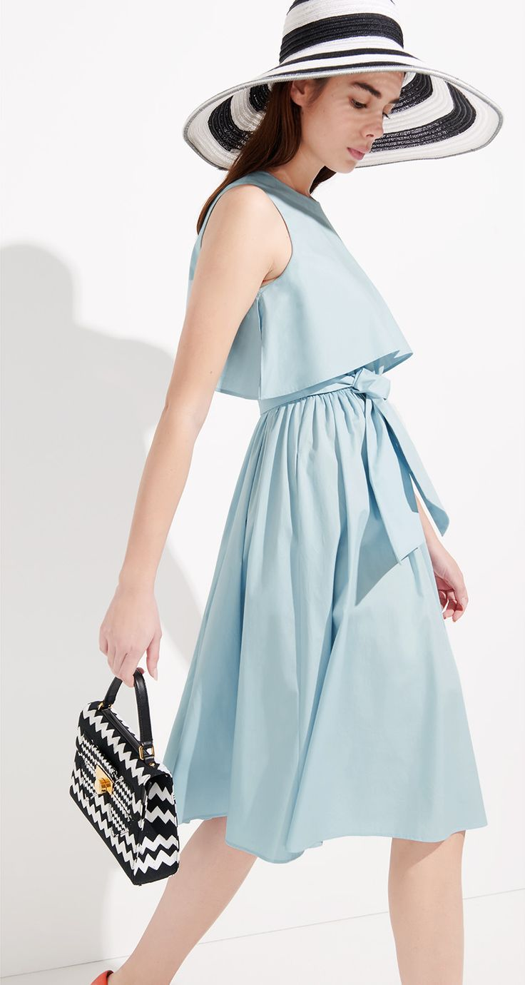 Stretch cotton poplin dress - Dresses - Collection - Spring-summer 2016 collection
