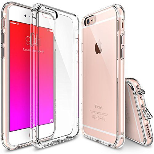 iPhone 6S Plus Case Ringke FUSION Shock Absorption Technology[FREE Screen Protector][CRYSTAL VIEW] Crystal Clear PC Back Drop Protection TPU Bumper Case for Apple iPhone 6 Plus (2014) / 6S Plus (2015)