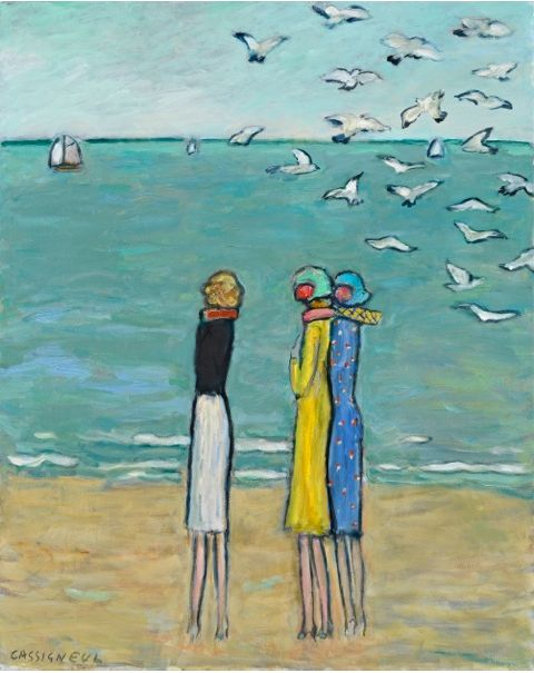 'Trois Amies' by Jean Pierre Cassigneul (b.1935) who was also  a painter, lithographer, engraver and illustrator.