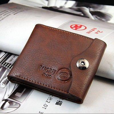 Bifold Wallet Men's Leather Brown Credit ID Card Holder Slim Purse Gift