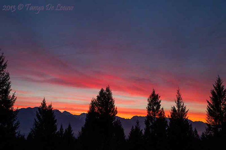 Columbia Valley sunrise today ...  http://tanyadeleeuw.smugmug.com/Scenic/Rise-Set/Sun/Columbia-Valley-Sunrise
