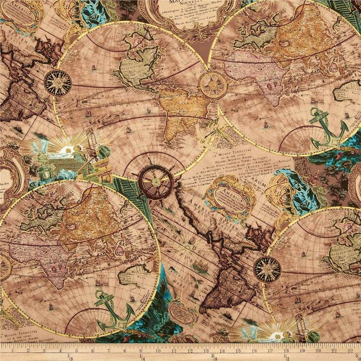 694 best textiles images on pinterest home dcor colours accent kanvas renaissance man mapping skills parchment from fabricdotcom designed by maria kalinowski for benartex map fabricfabric gumiabroncs Images