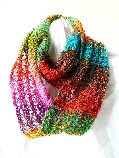 NEC (Nice Easy Crochet) scarf/cowl/infinity scarf/neckwarmer- PDF crochet pattern only. Pattern is written in standard American terms. $4.50, via Etsy.