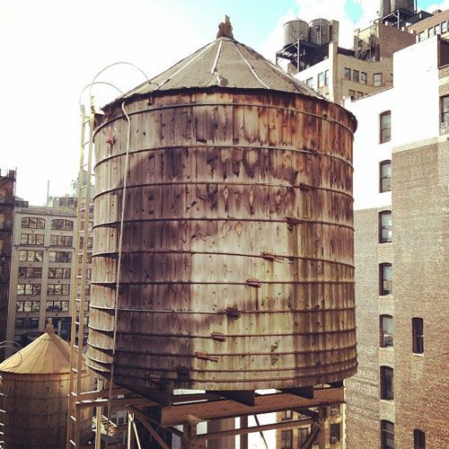 Water Tower Tank : Images about wooden water tanks on pinterest nyc