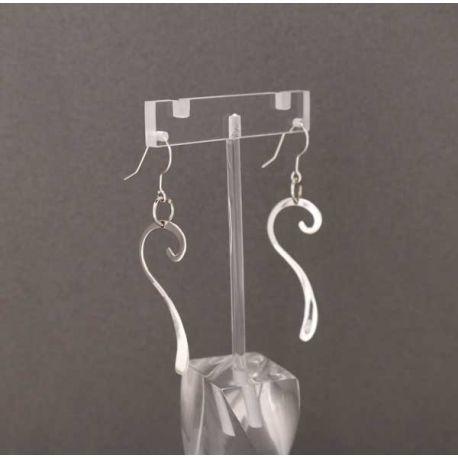 Aretes de plata, earrings in sterling silver
