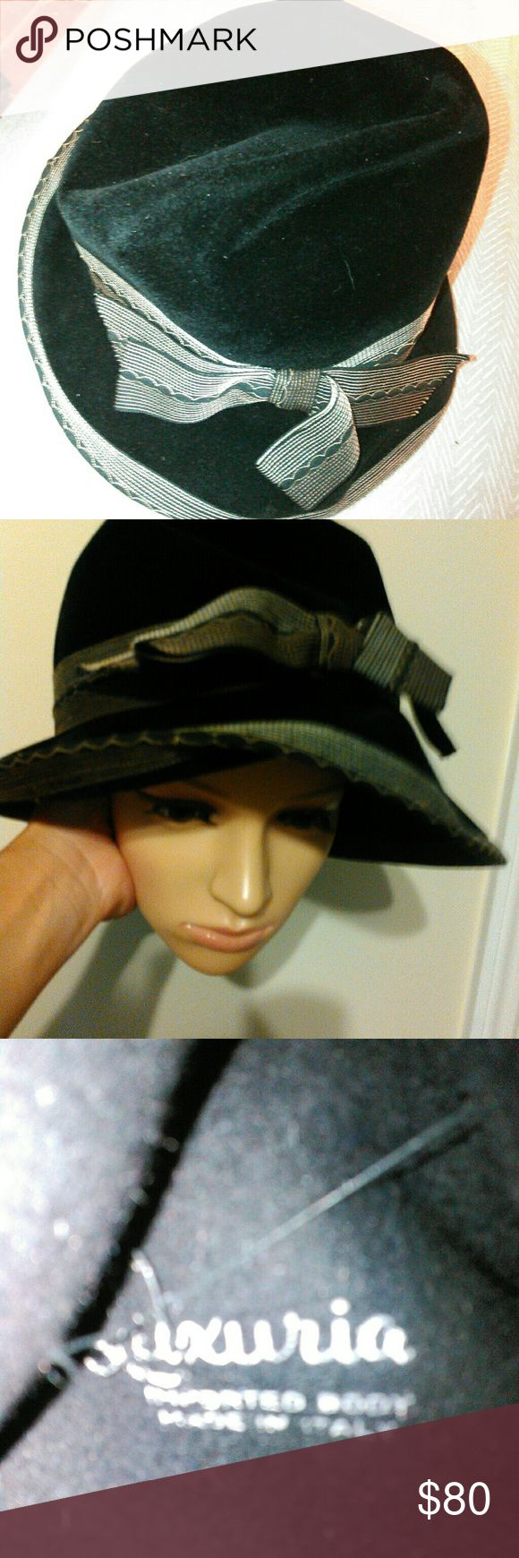 Vintage Italian Hat Beautiful one of its own!  I've never worn it! I bought it at a antique market.  I love it but I gotta let go of some of my collection! I can't find the exact one! Accessories Hats