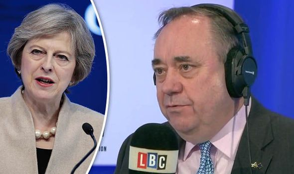 Theresa May outrageously told by Alex Salmond to NOT talk US-UK trade with Donald Trump