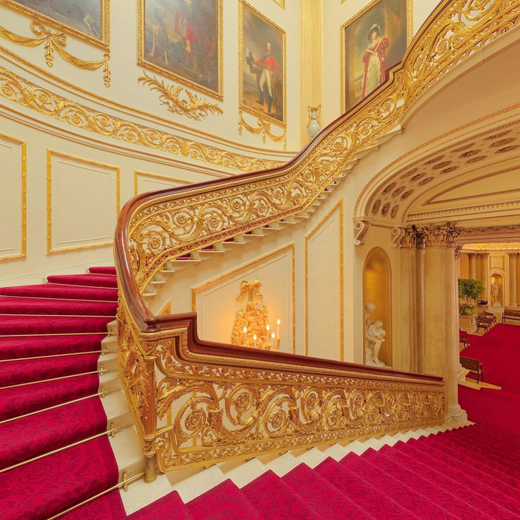 Buckingham Palace staircase To book go to www.notjusttravel.com/anglia