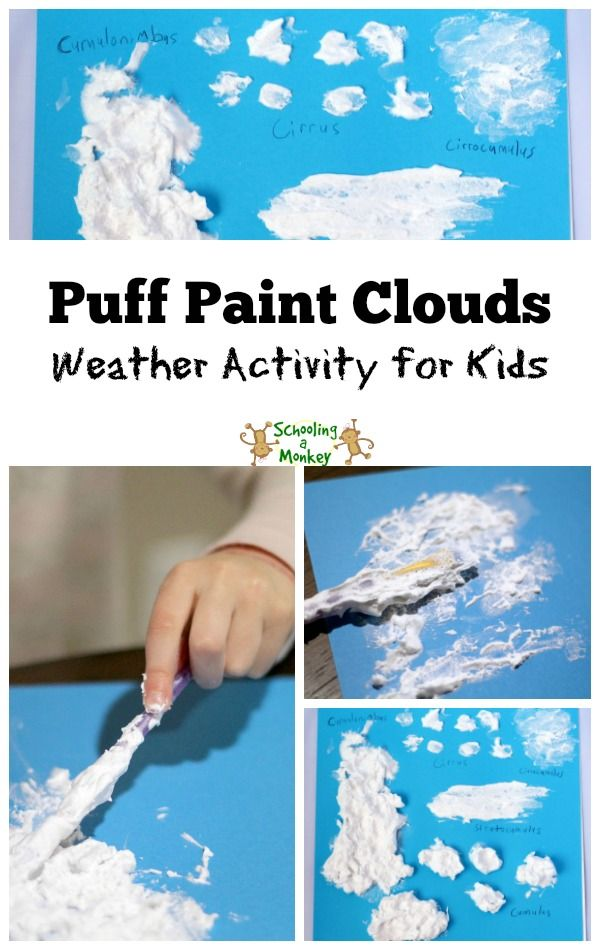 identifying cloud types puff paint clouds activities children and kid. Black Bedroom Furniture Sets. Home Design Ideas