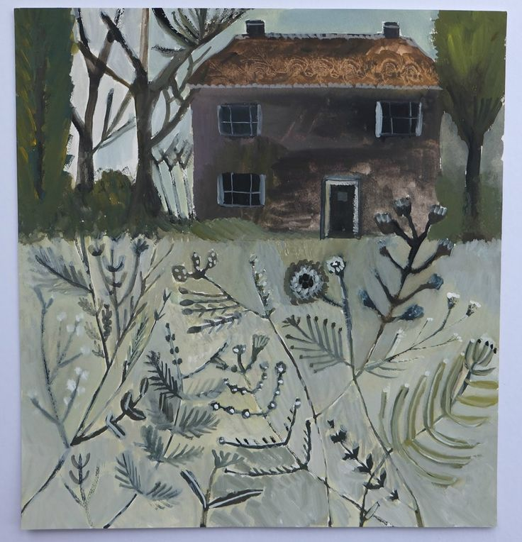 Cathy cullis- meadow view -  gouache painting
