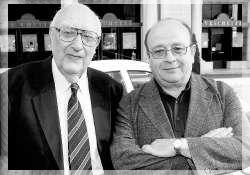 Vecchie foto di Vigata - Andrea Camilleri and Spanish writer Manuel Vazquez Montalban.