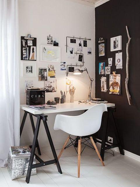 дневник дизайнера: Чувственный черно-белый дизайн рабочего места. 20 фото для вдохновения